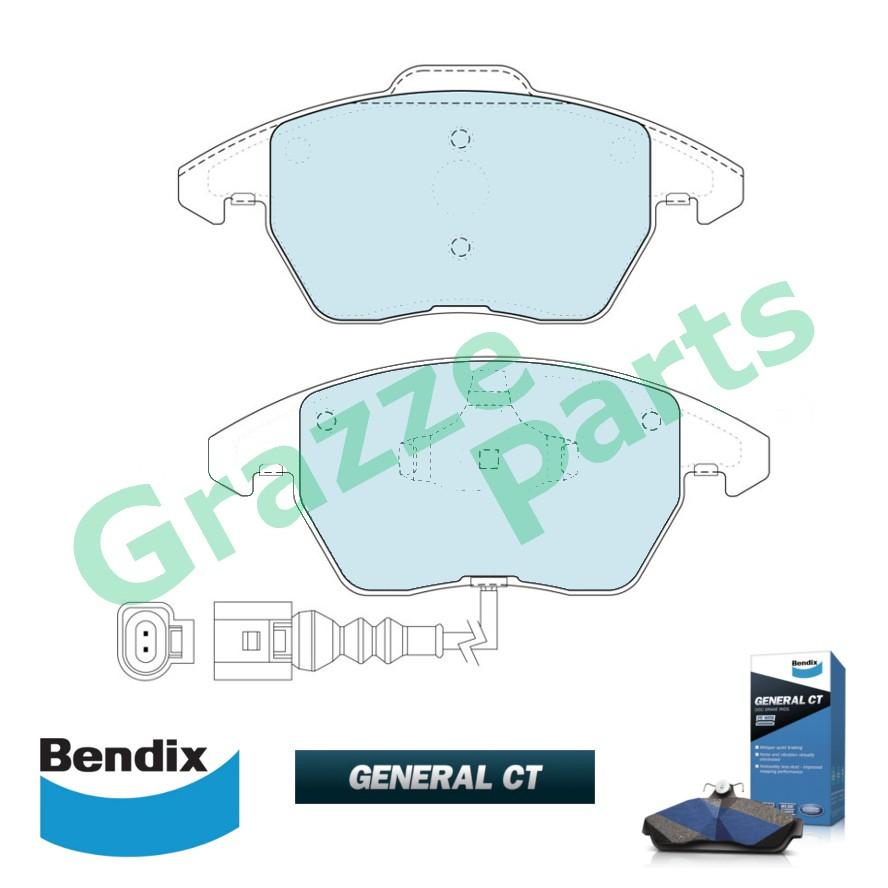 Bendix General CT Disc Brake Pad Front for DB1849 Volkswagen Golf Jetta Passat