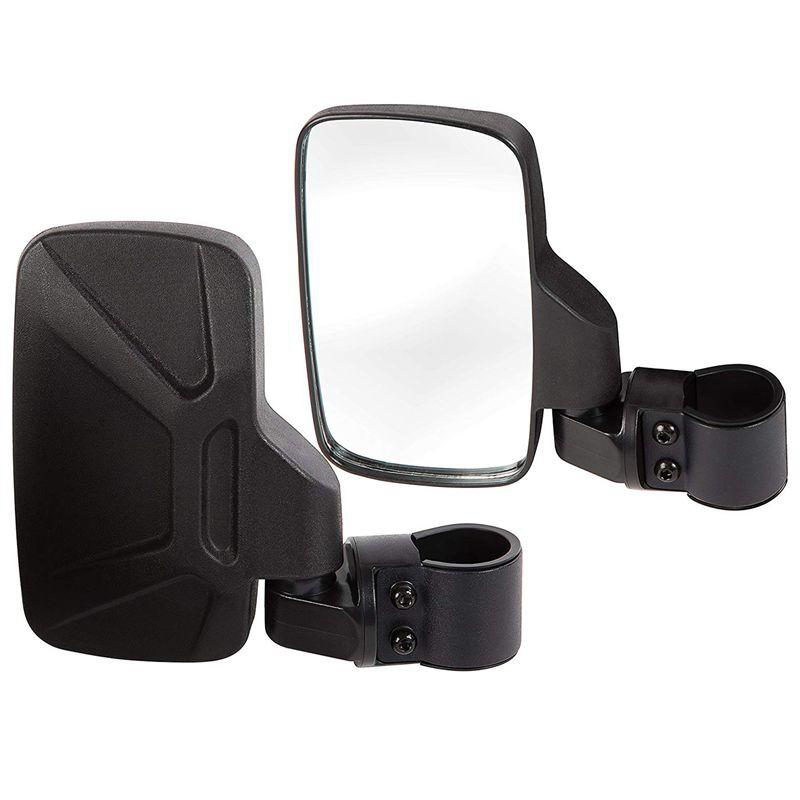 """Side Rear View Mirror Set UTV Offroad Break-Away Large Wide View Race 1.6""""-2"""""""