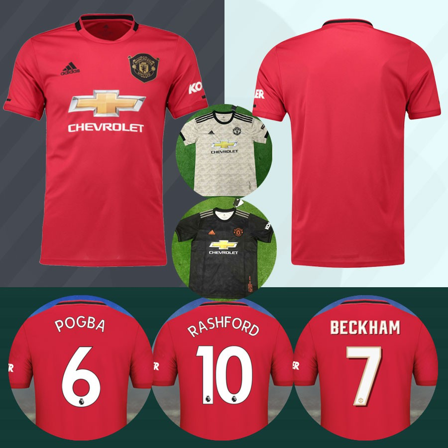 New 2019 2020 Manchester United Jersey Home Away Third Man Utd Football Jersey 19 20 Customize Name And Number Jersi Shopee Malaysia