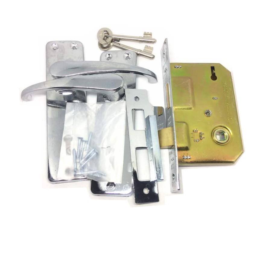 Kunci Fuda Mortice Key Steel Door Lock Set