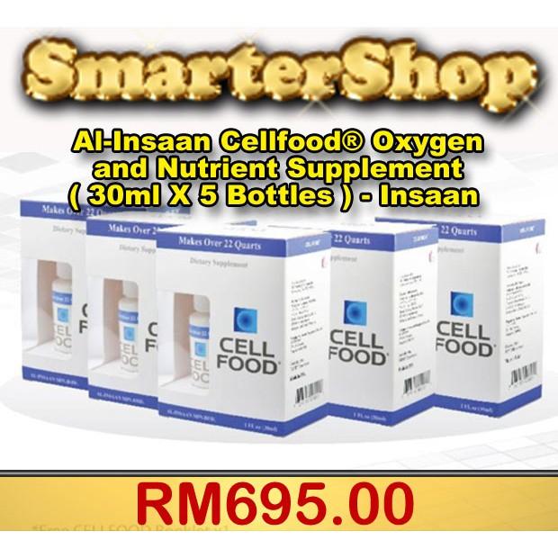 al insaan cellfooda oxygen and nutrient supplement 30ml x 5 bottles insaan shopee malaysia