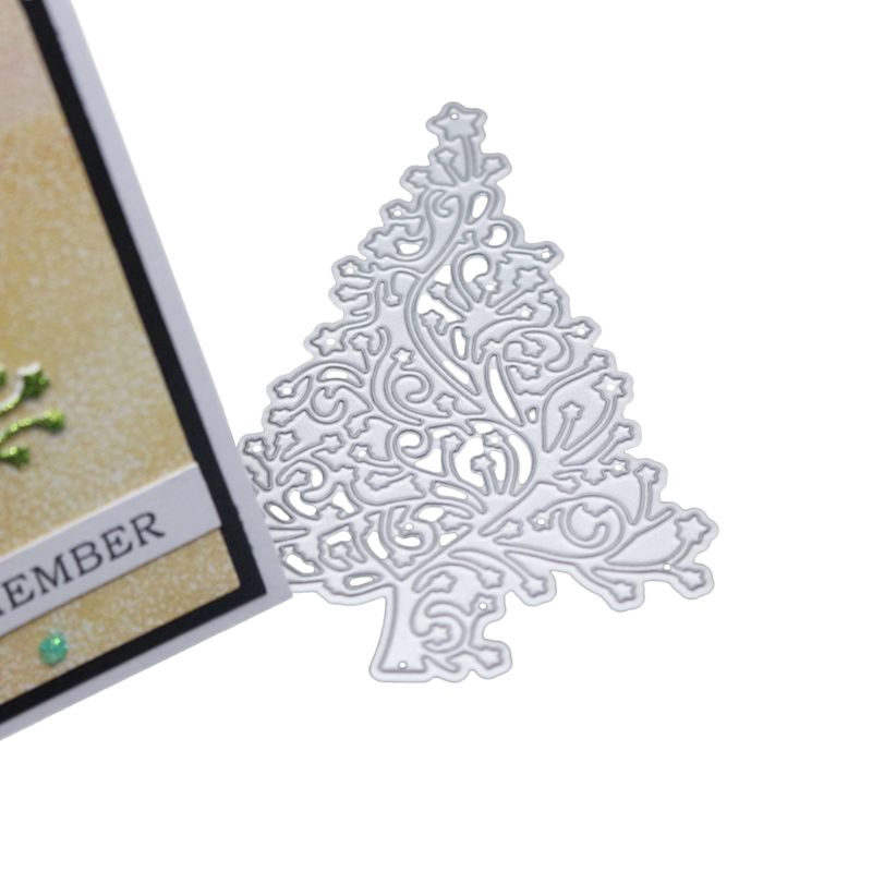 Lace Christmas Tree Cutting Dies Stencil DIY Scrapbooking Album Card Embossing