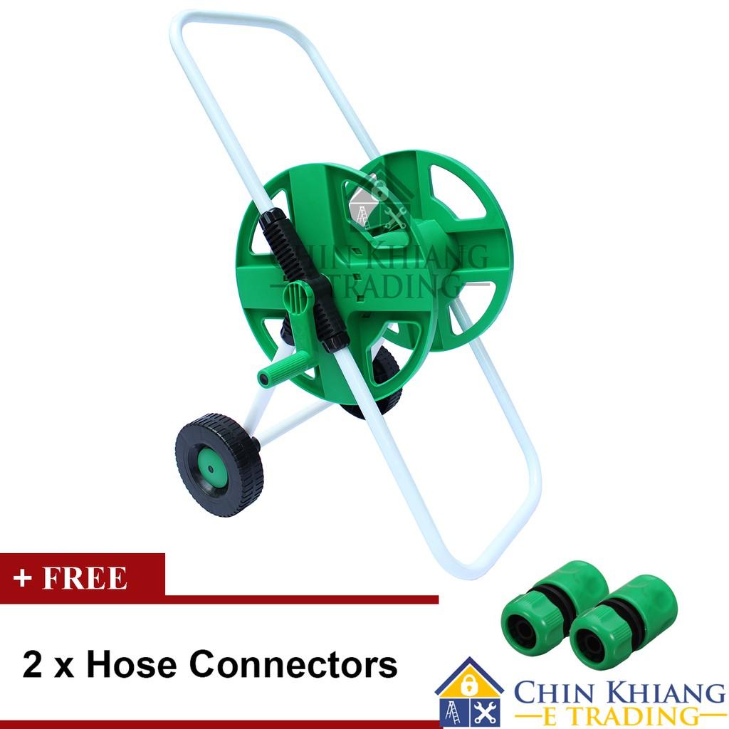 PVC Garden Hose Reel Organizer with Wheels HR60W