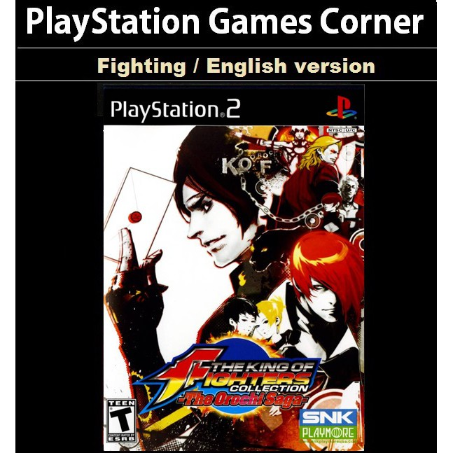 PS2 Game The King of Fighters Collection The Orochi Saga, English version, Fighting Game, Multi Game