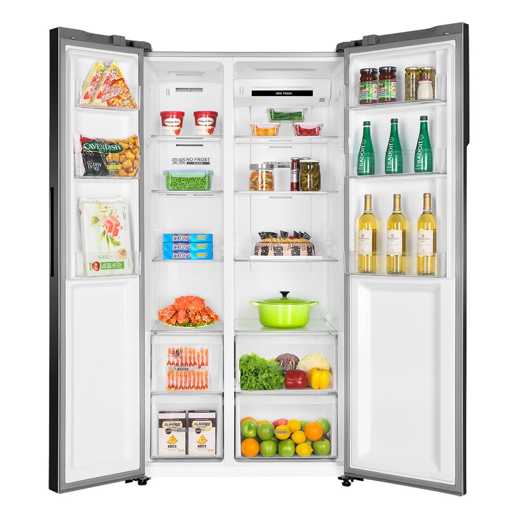 【Last Week Promo】Haier HRF-619SI(B) 550L Side By Side Glass Refrigerator Fridge Peti Sejuk with DC Inverter Technology