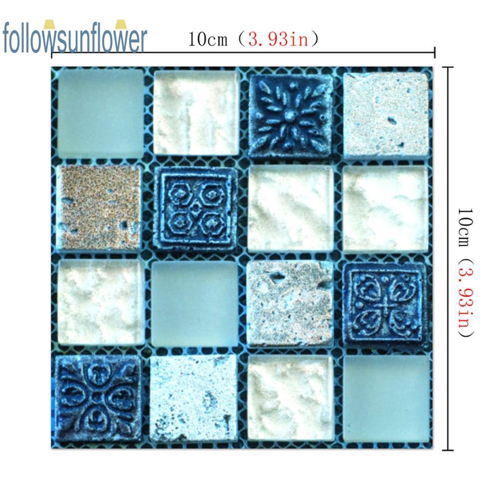 20pcs//set DIY Waterproof Self Adhesive 3D Wall Stickers Mosaic Tile Decal