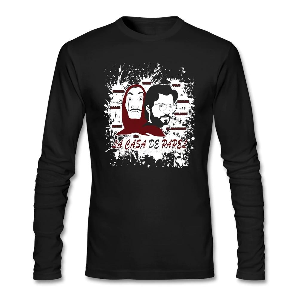 La Casa de Papel Money Heist T Shirt Custom Long Sleeve Men's Clothes New  Kpop