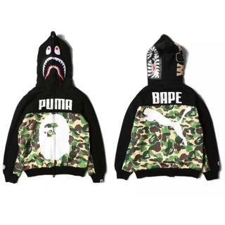 oficjalne zdjęcia uznane marki Całkiem nowy Bape Puma shark hoodie sweater