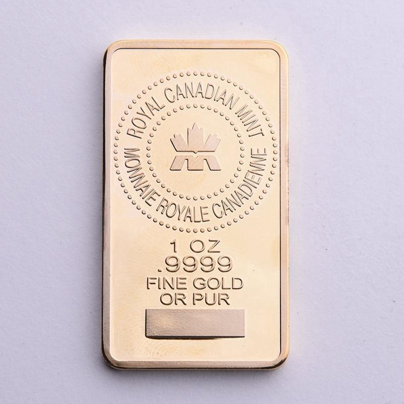 Canada Gold Bullion Bar 1 OZ  9999 Fine Gold Or Pure Royal Canadan
