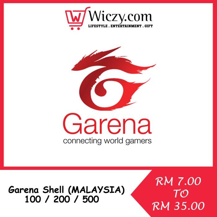 GARENA SHELLS (MALAYSIA) [ 100 / 200 / 500 ] Garena Shells