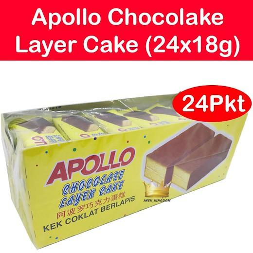 24 Pcs 3020 Apollo Chocolate Layer Cake