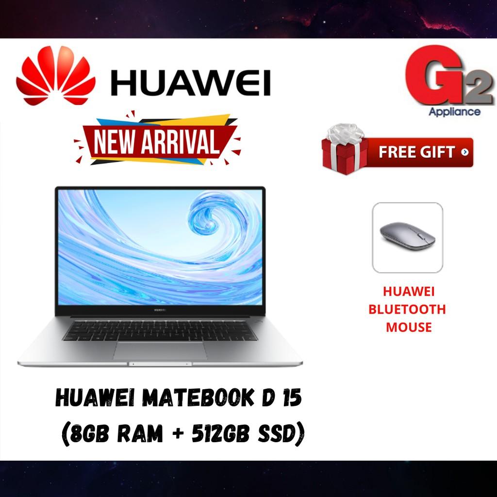 HUAWEI MATEBOOK D 15  (8GB RAM + 512GB SSD) - READY STOCK & 100% ORIGINAL HUAWEI WARRANTY MALAYSIA