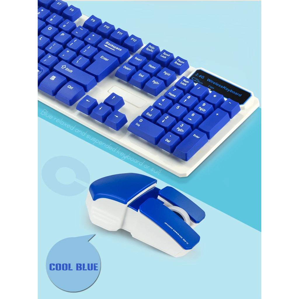 Home 2.4GHz Suspended Gaming Keyboard and Mouse Combo Wireless Office Hk5200