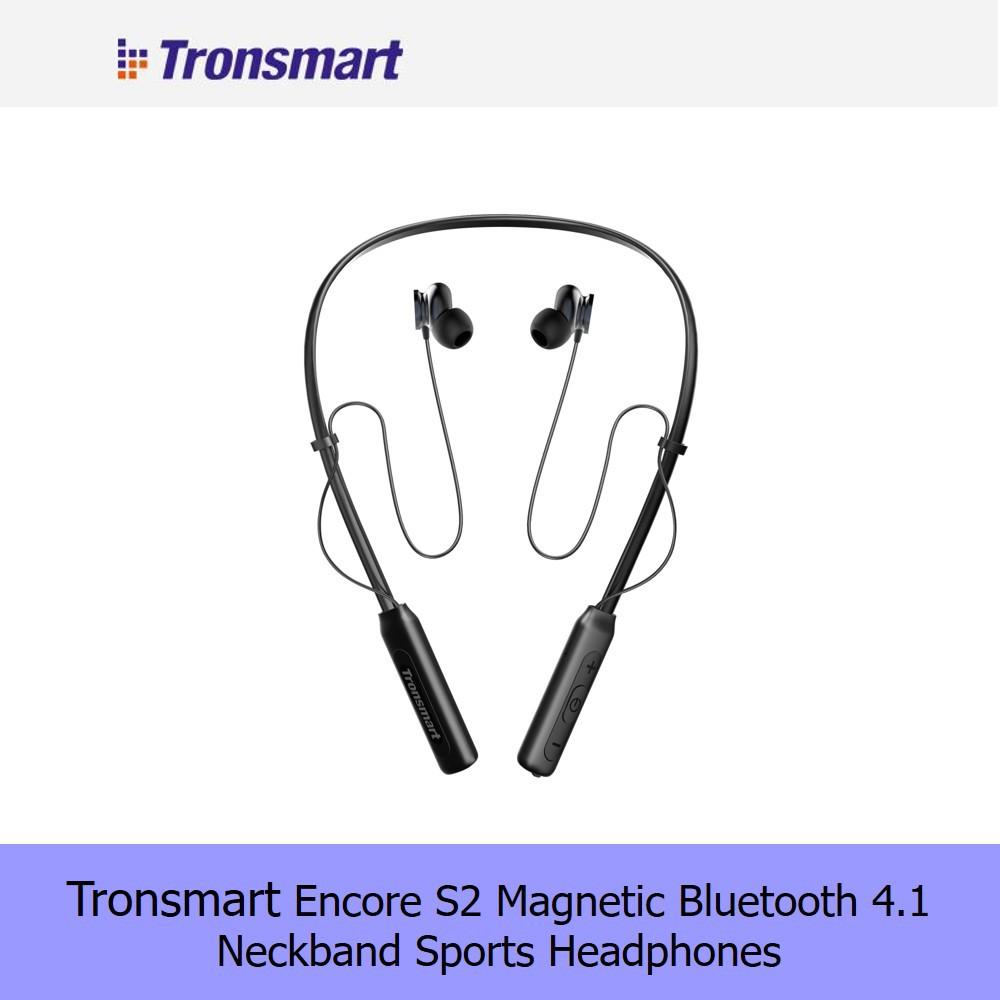 Tronsmart Encore S2 Magnetic Bluetooth 4.1 Neckband Sports Headphones