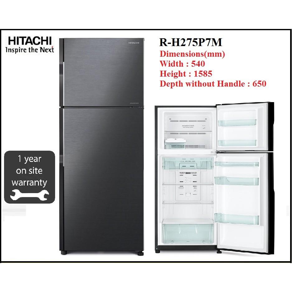 HITACHI R-H275P7M (BBK) 253L / 230L INVERTER 2 DOOR FRIDGE REFRIGERATOR RH275P7M (KL & SEL area only)