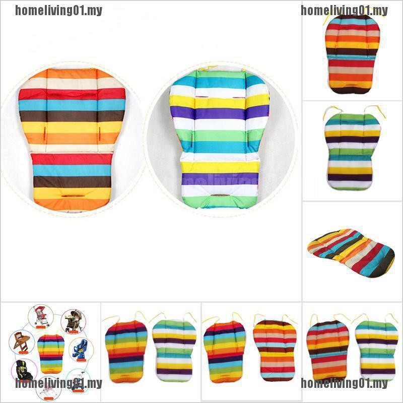 Pram Cushion Rainbow Color Soft Thick BB Car Umbrella Cart Seat Pad Co[homeliving01.my+stock]