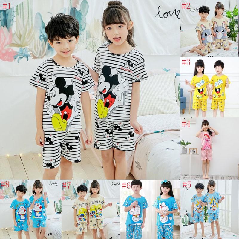 Hello Kitty Girl 2 PC Short Sleeve Pajama Set Size 10//12