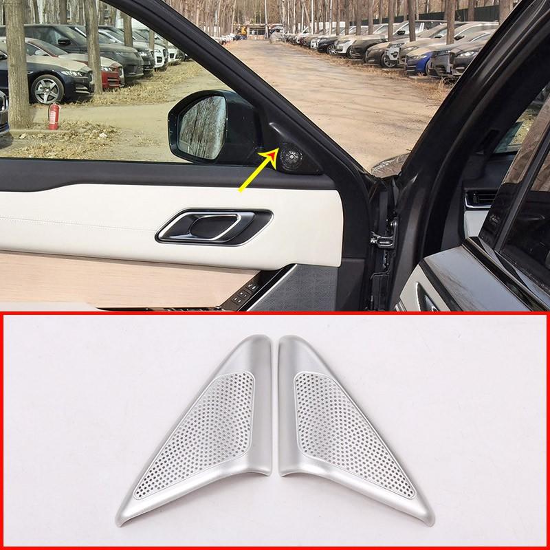 4x Aluminum alloy Car Door Speaker Cover Trim For Rangerover Velar 2017 2018