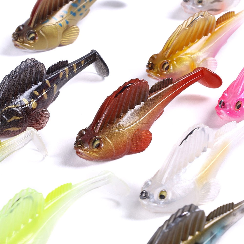 "MEGABASS DARK SLEEPER SOFTBODY SWIMBAIT 3/"" BASS FISHING LURE SELECT SIZE COLOR"
