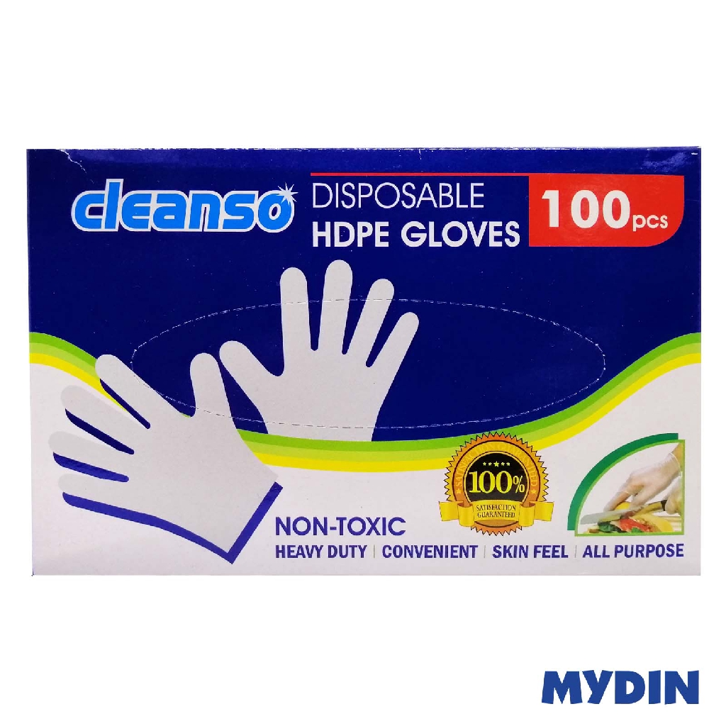 Niso Cleanso Disposable HDPE Gloves -100's DG100
