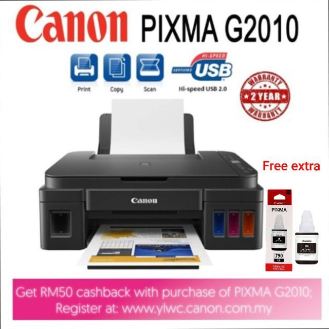 Canon G2010 3in1 Inkjet Printer with Hybrid Ink (with LCD  indicator)included ink