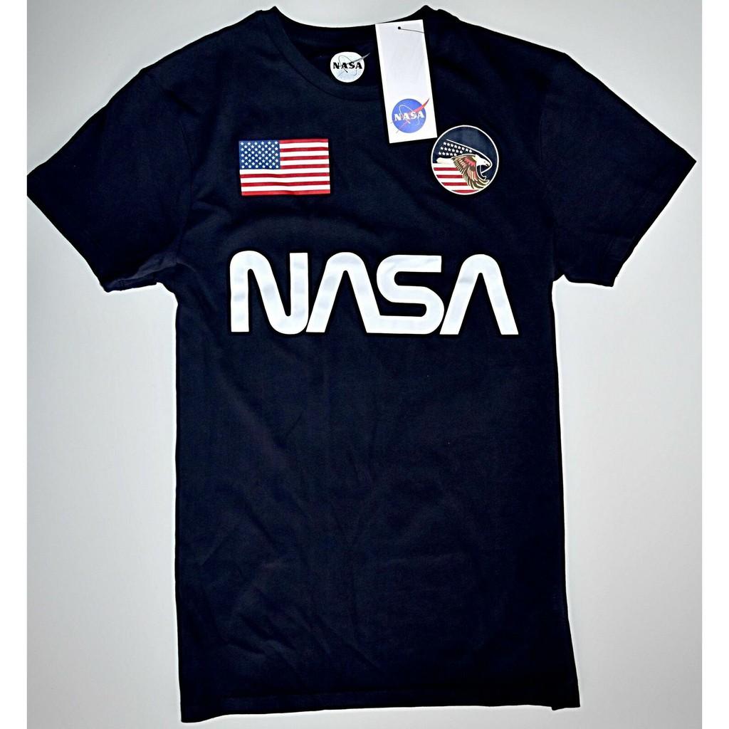 Nasa Men T Shirt Primark Mens Logo Usa 100 Cotton Uk Shopee Malaysia