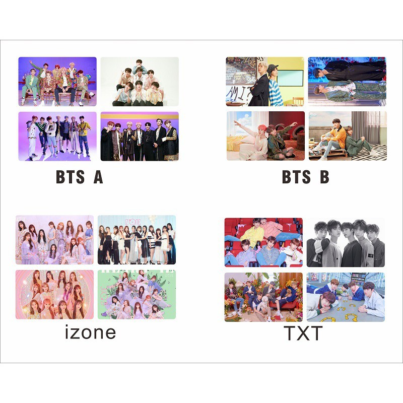 Blackpink BT Boys Twice iZONE GOT7 PVC Clear Photo Cards Kpop Seventeen TXT  Kpop Souvenirs