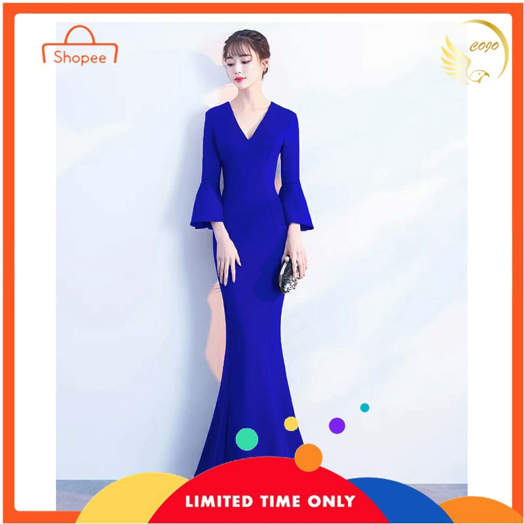 Elegant Women Bridesmaid Wedding Gown Ladies Long Dinner Evening Maxi  Dresses