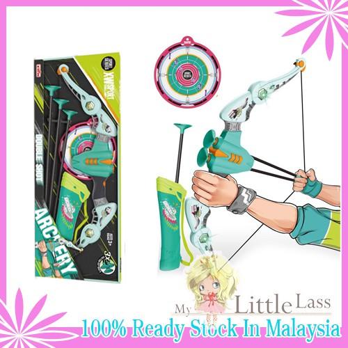 Double Strike New Sport Series Archery Toy Arrows with LED Light -Bow Archery Set for Boy/Girl