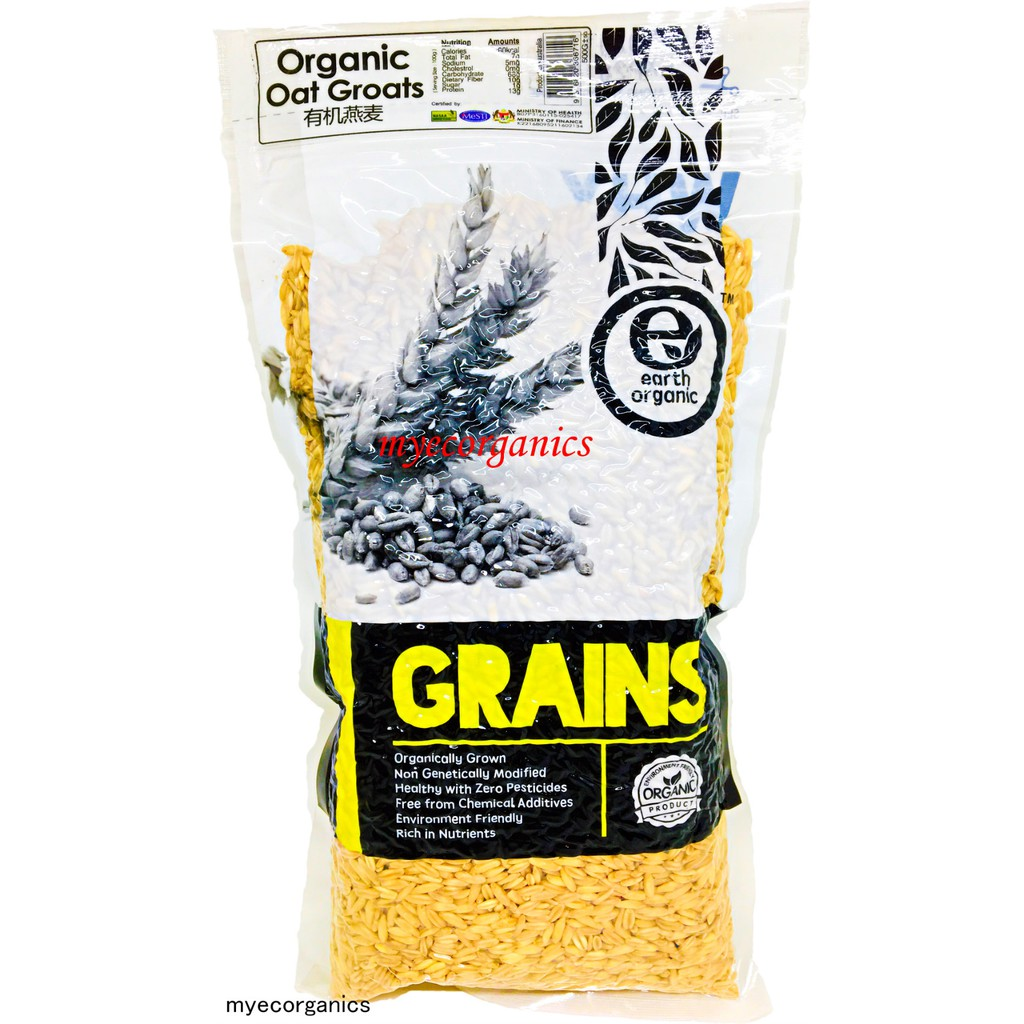 Earth Living Organic Oat Groats - 500G, EXP: 03/2020