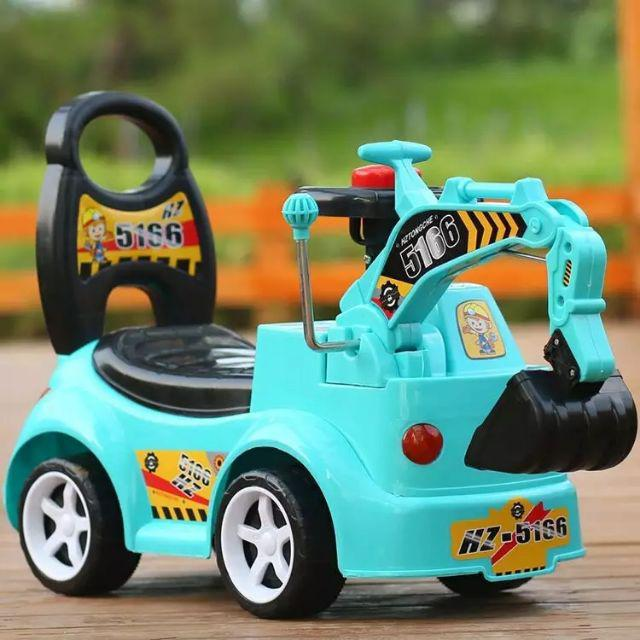 [ READY STOCK ]  Children Construction Excavator Music Baby Walker Car Toy Budak Mainan Jualan Murah Pretend Play Remote