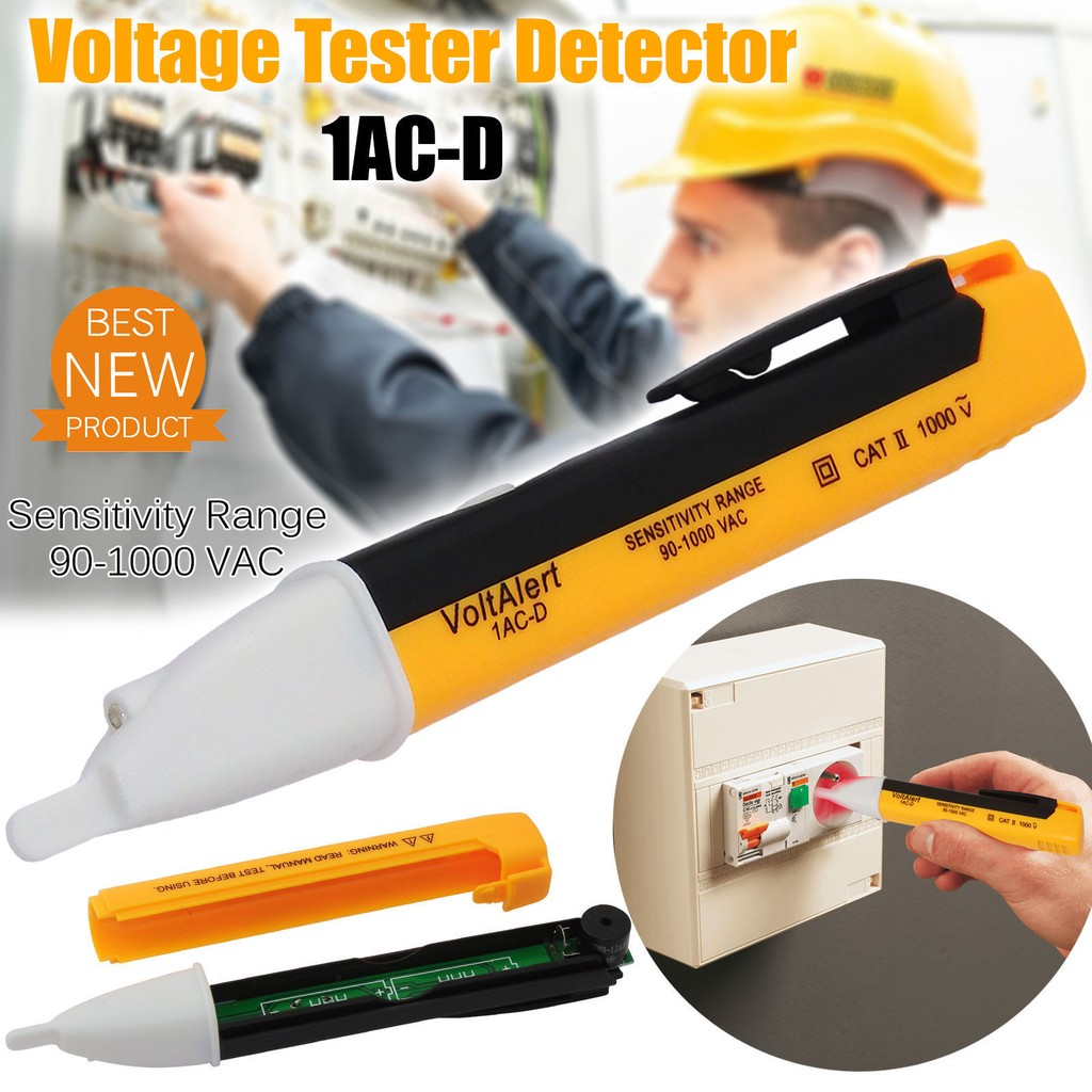 Led Light Ac Electric Voltage Tester Volt Test Pen Detector Sensor Portable Pencil Non Contact Voltmeter Circuit 901000v Shopee Malaysia