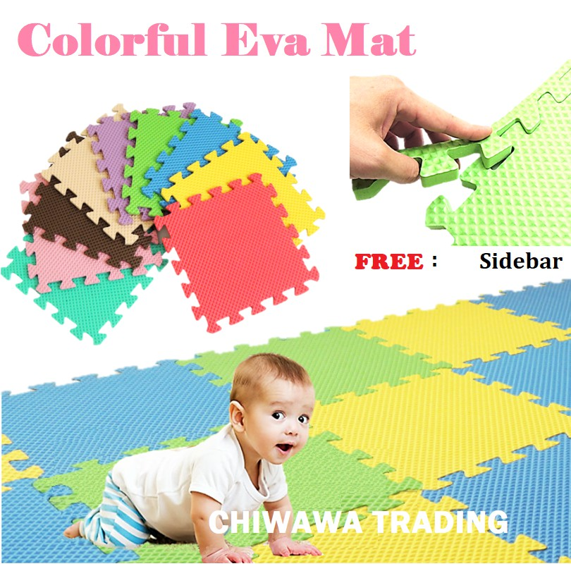 62 x 62cm Soft Stitching EVA Floor Pad Play Crawling Rug Bedroom Puzzle Foam baby Mat tikar