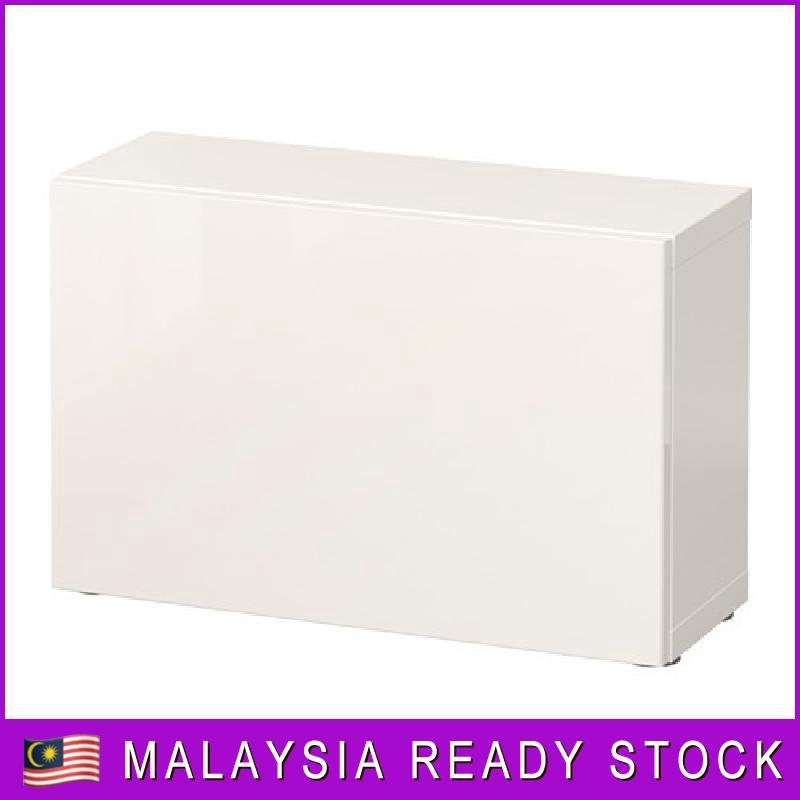 High Glosswhite 60x20x38 Cm Ikea Besta Shelf Unit With Door White Selsviken