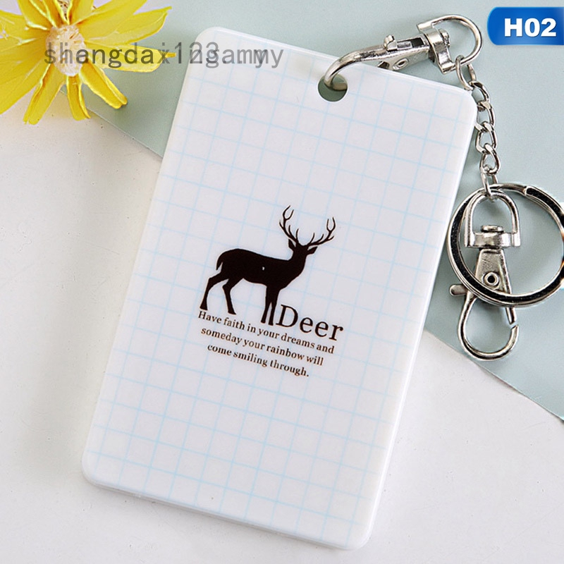 Liangcai123 Small Fresh Double-Faced Transparent Bell Card Case Bus Certificate Korea Creative Cute Cartoon