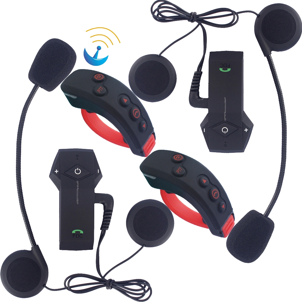 1000M BT Interphone Motorcycle Helmet Bluetooth Intercom Headset with L3 Control