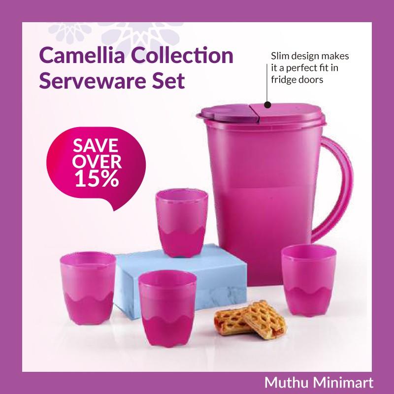 Original Tupperware | Camellia Collection Serveware Set Cup Tableware | Jug Cawan Set