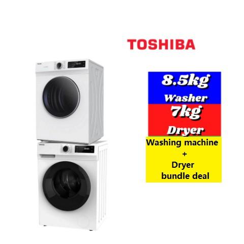 [FREE INSTALLATION] Toshiba Washer dryer bundle washing machine TW-BH95S2M(WK) + dryer TD-H80SEM