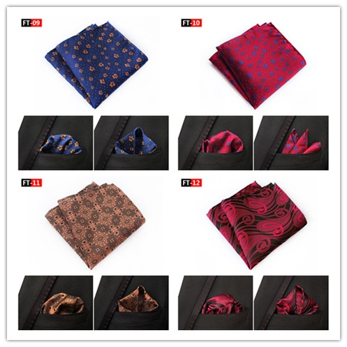 Men Solid Color Wool Cotton Pocket Square Wedding Party Handkerchief Hanky FT12