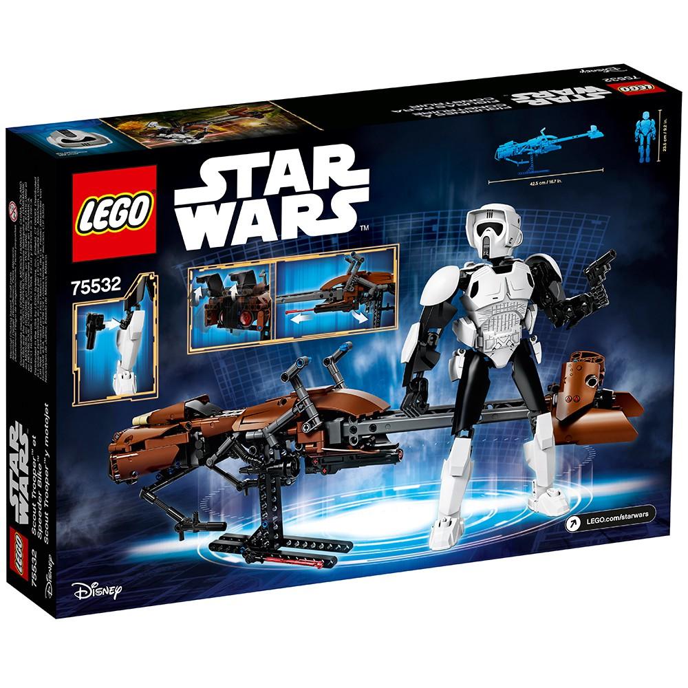New Sealed Retired LEGO Star Wars 75532 Scout Trooper/&Speeder Bike set 452 Pcs