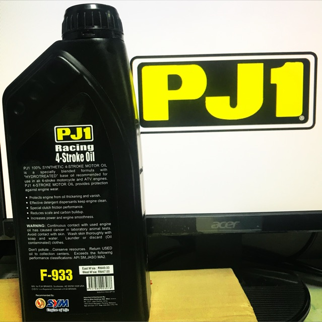 PJ1 F-933 4T FULLY SYNTHETIC 10W-40 ENGINE OIL ORIGINAL