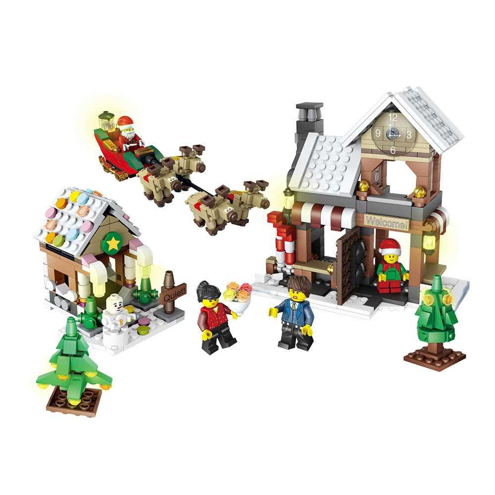 JJR/C Christmas Series 1001 741pcs Gift Set Educational Building Block Toys (1)