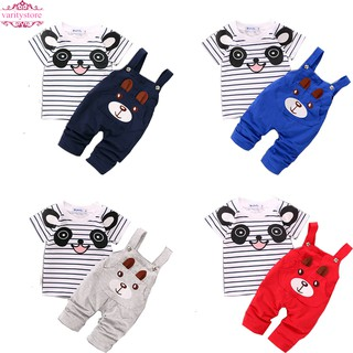 f5c47963167 baju 2PCS New born Kids Baby Boy Girls T-shirt Tops+Pants Outfits Clothing  Set
