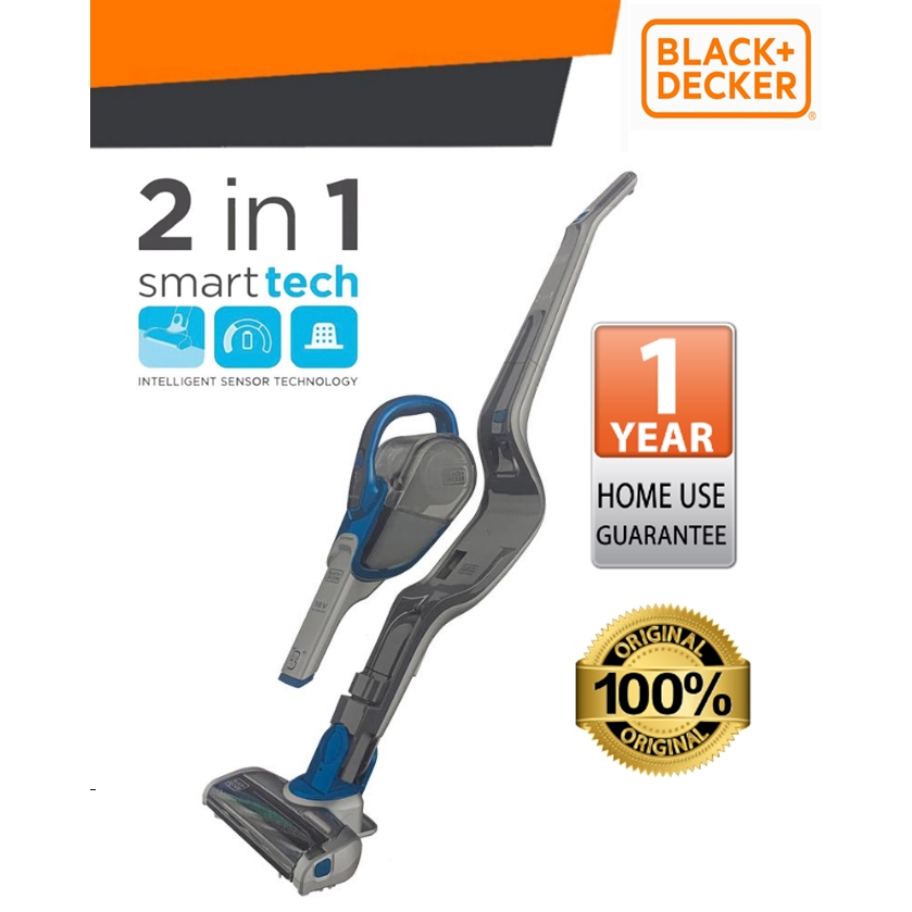 BLACK & DECKER CS1830B-B1 18V 2 IN 1 STICK VACUUM  HOUSEHOLD HANDHLED VACUUM SAFETY SAVETIME EASY USE KITCHEN ROOMS