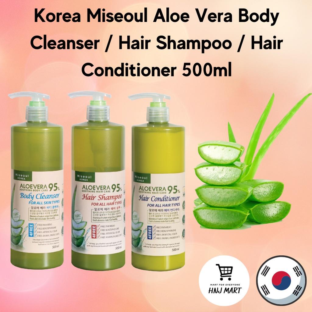 Korea Miseoul Aloe Vera Body Cleanser / Hair Shampoo / Hair Conditioner 500ml