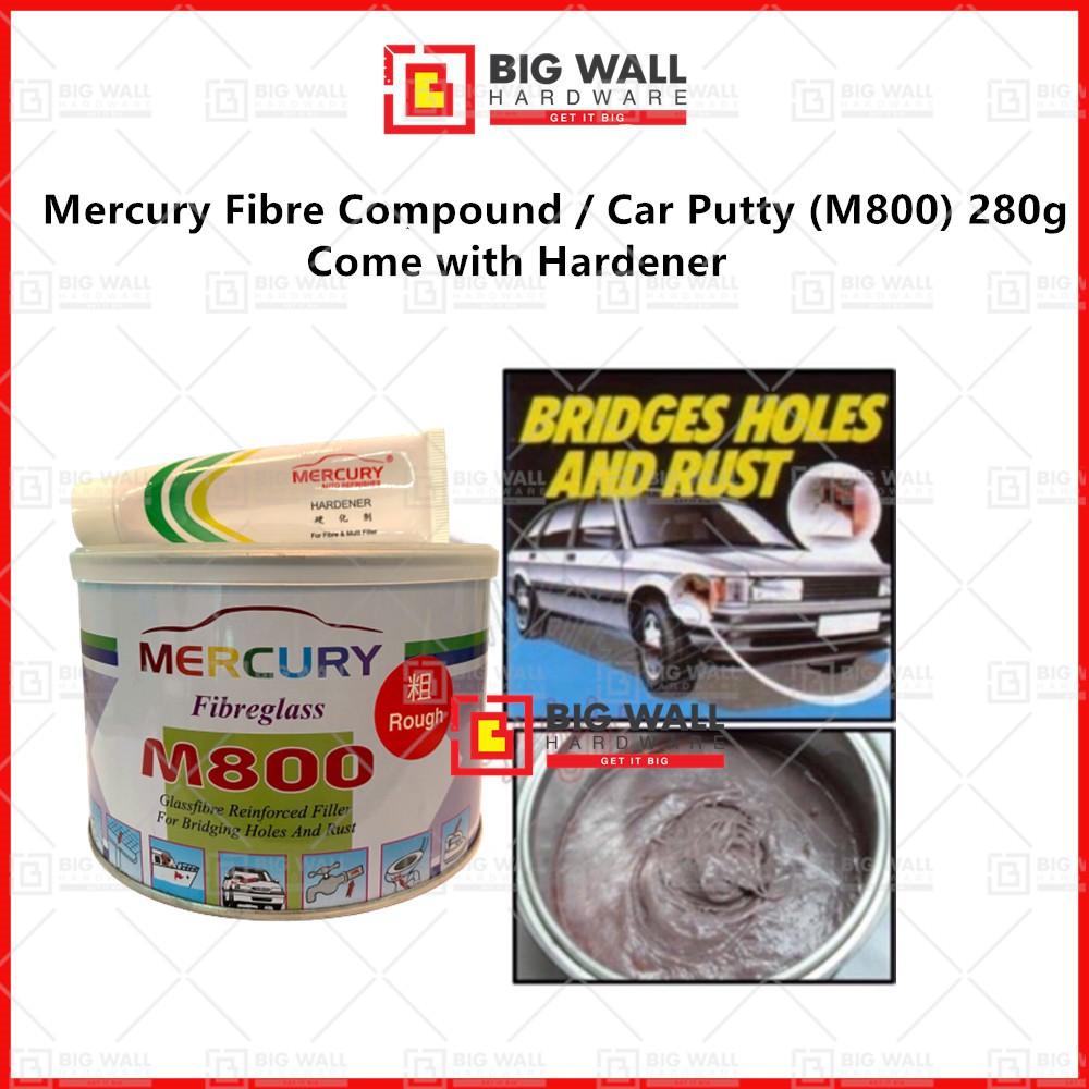 Mercury Fibre Compound / Car Putty (M800) with Hardener 280g / 1.25kg (Big Wall Hardware)