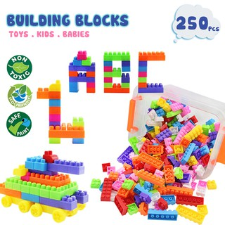 762d04aae ALX Toys Eduction 250 Pcs DIY Colourful Building Blocks Early Learning Kids
