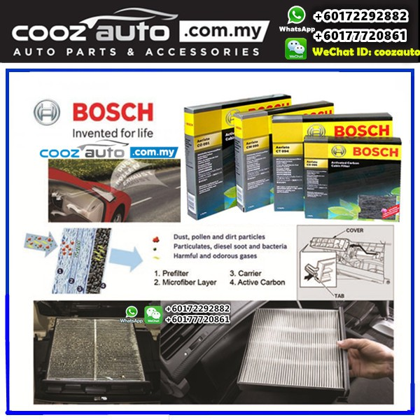 Fits Mazda 6 Genuine Bosch Particulate Cabin Pollen Filter