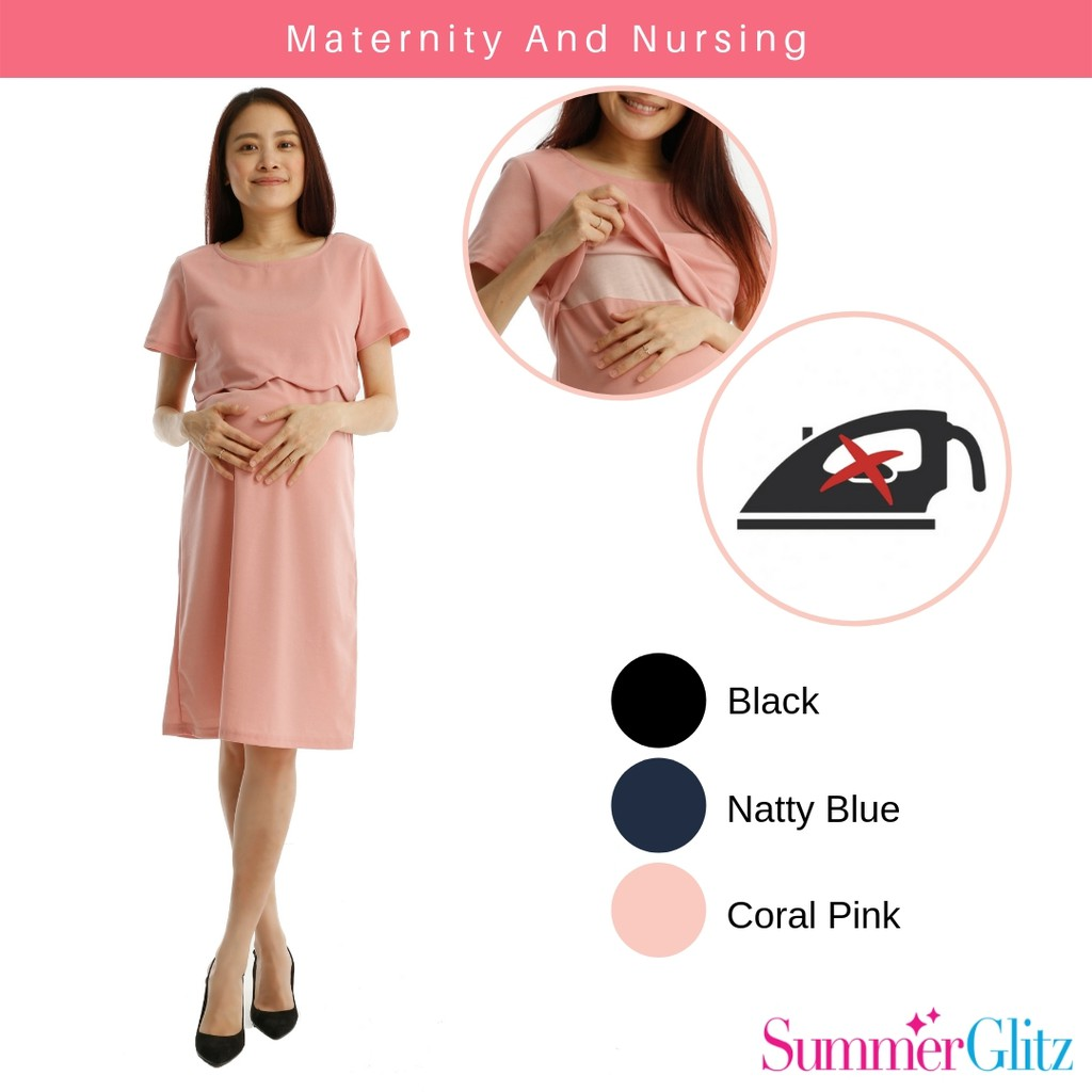 c0a05cea634 Mamaway 2 in 1 Maternity & Nursing Top - Blue | Shopee Malaysia