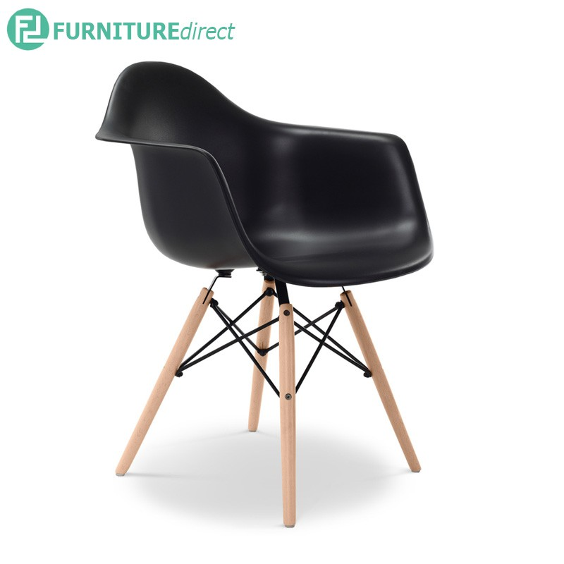 Furniture Direct EAMES doris chair with arm- black & white color